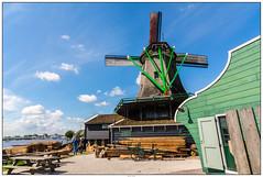 Houtmolen Zaanse Schans (voorhammr) Tags: gras zon zaanseschans zaandam molens 2016 vakwerk huisjes blauwelucht jolandakraus