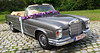 - bridal limo - (Jac Hardyy) Tags: auto old flowers classic cars car grey mercedes se beige antique blossoms grau convertible blumen garland limo chrome fawn oldtimer autos blooms bridal blume cabrio eyecatcher 220 cabriolet braut girlande blumengirlande brautwagen lmousine