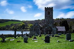 St Winnow church (adiej62) Tags: uk sky holiday church beautiful graveyard st clouds river landscape coast countryside walks cornwall sunny graves filters winnow