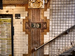 79th Street (MROEDEL) Tags: roedel madridminer nyc newyorkcity station tracks underground concrete mosaic tile stair rail subway