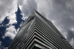 Gooderham Condos (Jack Landau) Tags: city blue sky urban toronto building architecture district balcony shift condos distillery gooderham architectsalliance