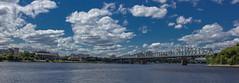 Alexandra Bridge II (brad_cotten) Tags: sky ontario colour water clouds river landscape day bright quebec ottawa gatineau