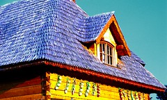 (andreearb) Tags: park camera carnival blue house detail nature yellow closeup corner fun amusement sony details decoration places forth romania bucharest bicolor yellowish tineretului sonydsch2 parcultineretului