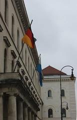 German and Bavarian Flags (pegase1972) Tags: germany munich bavaria flag allemagne drapeau bavire