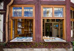 look into the small gallery (rainerralph) Tags: windows germany gallery erfurt olympus galerie fachwerk outddoor thringenthuringia omdem1 mzuikodigital71428