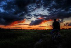 Sunset (Sareni) Tags: sunset sky sun colors field grass bike clouds evening cyclist sundown path serbia may hdr highdynamicrange vojvodina twop srbija nebo 2014 banat polje trava zalazak boje poljana oblaci sunce vece livada bicikl staza alibunar biciklista juznibanat sareni utrina