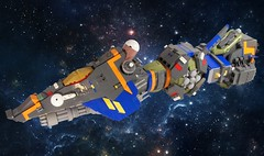 LBA-10 Long Range Heavy Fighter (Captain Herffenblerf) Tags: lego space fighter starfighter ship spaceship
