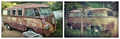 Roadside treasure (Dave* Seven One) Tags: bus rot abandoned broken rotting vw volkswagen dead cool junk rust decay alabama rusty coffeeshop used forgotten van roadside camper decaying microbus oldglory aircooled rotted splitwindow bussplitwindow