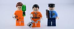 6) 3 Guys in 3 suits : Jail (Alex THELEGOFAN) Tags: lego 3 guys space police joker super heroes suit jawson tazer handcuffs bottle bone lock legography