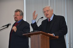 Ron Harris is preaching in Russia with a translator