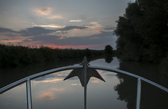 front of the boat (marc_morris1982) Tags: river boat floating front riverstour stour sunset sun sky redsky red anchor railing calm calming relaxing outdoors outside canon eos sigma groveferry plucksgutter kent canterbury uk england