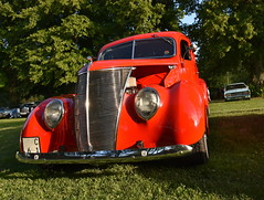 Ford Coupe 1937. (Papa Razzi1) Tags: 7549 2016 202365 ford coupe 1937 july summer sundby carmeet carwednesdays2016 v8 red