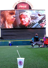 B7076 * Movie Night at Coca-Cola Field (sabre11richard) Tags: han solo chewbacca chewie episode 7 seven buster bison grass harrison ford