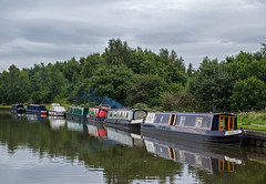 Bickershaw Marina (davep90) Tags: davep90 gloomy bickershaw marina leigh pennington flash canal barge boat wigan mooring fuji fujifilm 1855 kit lens