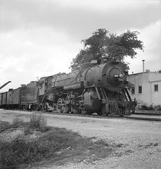 [Missouri Pacific, Locomotive No. 1551 with Tender] (SMU Central University Libraries) Tags: trains mp railways locomotives mopac railroads railroadcars tenders railroadyards missouripacificrailroadcompany railroadfreightcars