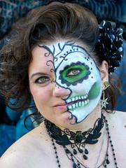 HorrorHound Participant (J Wells S) Tags: costumes ohio portrait dayofthedead skeleton skull blood cosplay cincinnati makeup evil dressup gore diademuertos youngwoman guts candidportrait horrorfilms sharonville slashermovies sharonvilleconventioncenter monsterfilms 2015horrorhoundweekend
