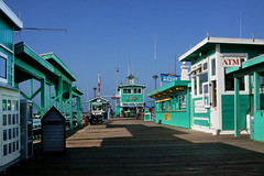 Teal Pier (lefeber) Tags: california architecture island pier catalina vanishingpoint shadows teal perspective shops avalon