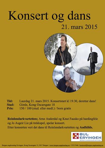 Konsert og dans 21. mars