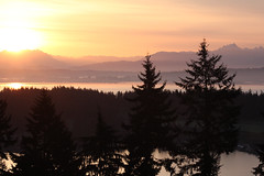 Sunrise over Whidbey