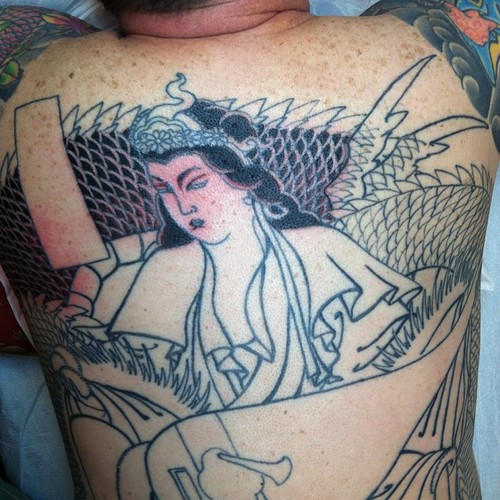 "A other backpiece from 3 years ago @ancientinktattoo #benzaiten • <a style=""font-size:0.8em;"" href=""http://www.flickr.com/photos/103391123@N04/16640266257/"" target=""_blank"">View on Flickr</a>"