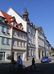 Market-place in Themar (:Linda:) Tags: street people bike germany town bluesky thuringia marketplace themar