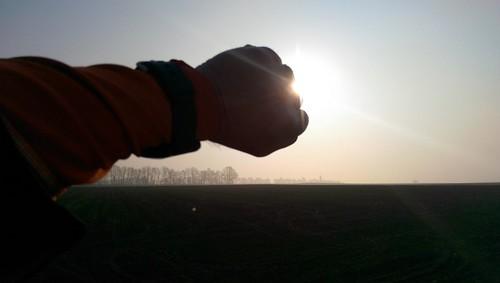 Vorzeitige Sonnenfinsternis bei Selzen