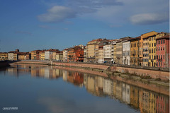 pisa (stefano.cavallo) Tags: bridge italy sun water river nikon colours ponte pisa arno nikond3200