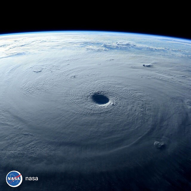 repost from @nasa Space Station Flies Over Super Typhoon Maysak: Typhoon Maysak strengthened into a super typhoon on March 31, reaching Category 5 hurricane status on the Saffir-Simpson Wind Scale. NASA Astronaut Terry Virts captured this image while flyi