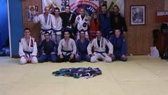 Examen de Grado 2013 Azules de pies-Asier, Jon, Joseba, Yo, Kontxi, Xabi Rapado y Xabi bueno. De rodillas- Oier, Ibon, Urko, Igor, mikel y Iñigo