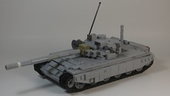 T-72 Modernized (Tomcat Bobcat) Tags: cold modern t war tank lego russia military main battle soviet russian 72 modernized t72 brickarms
