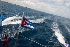 Mares de Cuba (Roberto Surez ( Cuba en Fotos )) Tags: travel la mar barco feria bandera habana turismo catamarn cubana lahabana