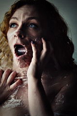 suffocate (♥ brooke gehringer) Tags: portrait dark hands fear breath anxiety suffocate mentalillness