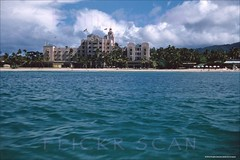 Royal Hawaiian Hotel Offshore 1957 (Kamaaina56) Tags: 1950s waikiki hawaii hotel royalhawaiian slide offshore