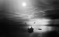 Voyage against the light (oliurrahmanpritom) Tags: world travel light shadow sky bw white black art texture nature water beautiful composite digital river lens landscape photography lights boat high aperture nikon moments foto fotografie view image exploring grain creative commons scout snap best collection explore story adobe journey transportation excellent click bangladesh pritoms flicker decisive lightroom greatphotographers 3556 inexplore fotographe worldbest flickriver flickeriver inflicker d3100 addexplore xplorstarts