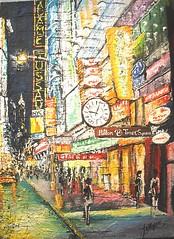 Hilton di times square (Artlynow galleria d'arte) Tags: hilton quadro timessquare paesaggio artista pittura dipinto francescoottobre