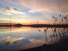 Refreshing Morning (Lojones13) Tags: morning sky water mirror newjersey serene refreshing relections newarkbay explore398