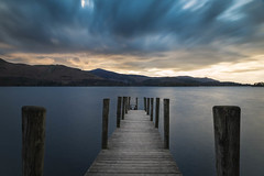 The Jetty (ChrisDale) Tags: longexposure blue sunset cloud lake water jetty derwent lakedistrict cumbria derwentwater keswick chrisdale chrismdale