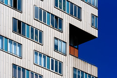 Isometry (Cameron Booth) Tags: blue abstract window netherlands amsterdam silver europe nl apartmentbuilding apartmentblock northholland