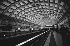 underground (Katerina Atha) Tags: city people blackandwhite bw architecture underground blackwhite washington downtown metro geometry