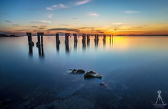 DECOMMISSIONED (Vaughan Laws Photography | www.lawsphotography.com) Tags: ocean old longexposure sunset seascape water beautiful skyline clouds canon landscape pier ruins rocks colorful jetty fineart australia melbourne sunsetting frankston ndfilter olivershill longshutterexposure longexposuresunset canon6d longexposurecolour nd10stop lawsphotography vaughanlaws
