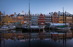Reflection Love (Jamie Frith) Tags: winter copenhagen denmark boats nyhavn canal nikon bluehour d800 1424