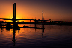Silhouetted Sunset (Leanne Cole) Tags: bridge sunset river landscape photographer photos silhouettes australia melbourne images victoria yarra environment fineartphotography boltebridge environmentalphotography fineartphotographer nikond800 environmentalphotographer leannecole leannecolephotography