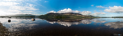Lough Leane Panorama (D.A. Lichtbilder) Tags: blue ireland sky panorama mountain reflection water clouds nikon wasser lough himmel wolken irland eire kerry ring berge killarney d750 blau fx reflektionen leane