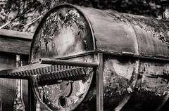 Old relic (baxterd67) Tags: chimney canada classic contrast blackwhite yummy rust britishcolumbia oldskool filmlook invermere golftrip