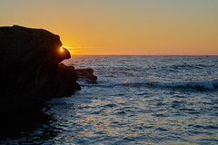 After the Longest Day (AgarwalArun) Tags: ocean sunset reflection water landscape rocks waves pacific scene views summersolstice