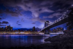 New York By NIGHT ! (Reda Ait Saada) Tags: new york city nyc bridge light sky usa ny skyline architecture night canon puente photography lights noche high amazing long exposure manhattan ciudad cielo 7d architektur pont mm 18 range saada nuit nueva architettura hdr ait ciels reda dyanmic grattes