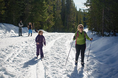 skiing around trillium lake (dolanh) Tags: winter snow skiing renee crosscountry xcski zooey trilliumlake mthoodwilderness
