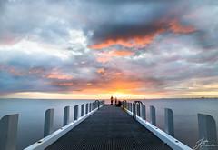 New Pier | Brighton (Jake Richardson Photography) Tags: ocean new sunset red sea sky orange sun fish water colors beautiful pier fishing nikon brighton long exposure pretty colours fishermen melbourne victoria le majestic d610