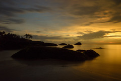 Golden hour (@nikondxfx (instagram)) Tags: goa nikon travel beach holiday longexposure palolem sky southgoa sunset goldenhour tripod rock tree 2014 1685 nikkor nitya nitya800gmailcom photography flickr