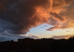Sunset 12 June 2016 (Sculptor Lil) Tags: sunset sky storm london weather clouds stormclouds iphone6s